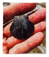Seashells By The Seashore Fleece Blanket