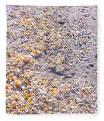 Seashells In Sanibel Island, Florida Fleece Blanket