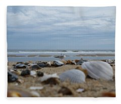 Seashells Seagull Seashore Fleece Blanket