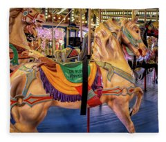 Seaside Carousel Stander Fleece Blanket