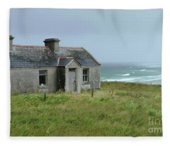 Seaside Cottage Belmullet Fleece Blanket