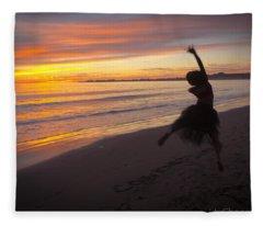 Seaside Dancer Fleece Blanket