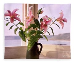 Seaside Lilies Fleece Blanket