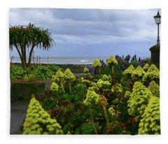 Seaside Scene Fleece Blanket