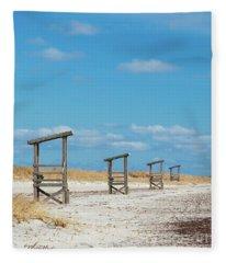 Seaside Sentinels Fleece Blanket