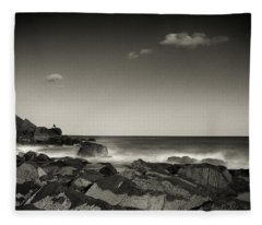 Seaside Solitude Fleece Blanket