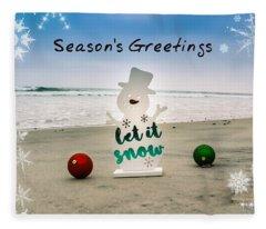 Season's Greetings Fleece Blanket