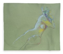 Seated Study Fleece Blanket