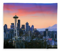 Seattle Waking Up Fleece Blanket