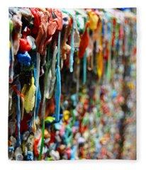 Seattle Post Alley Gum Wall Fleece Blanket