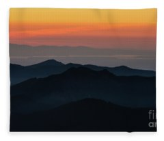 Seattle Puget Sound And The Olympics Sunset Layers Landscape Fleece Blanket