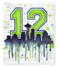 Seattle Seahawks 12th Man Art Fleece Blanket