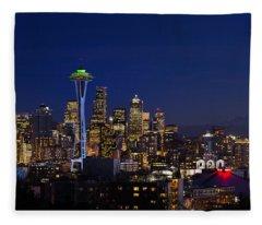 Seattle Seahawks Space Needle Fleece Blanket