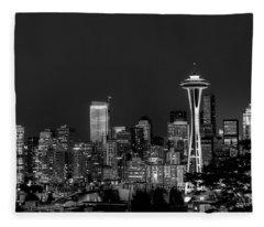 Seattle Skyline Fleece Blanket