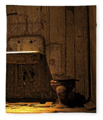 Seattle Underground Bathroom Fleece Blanket