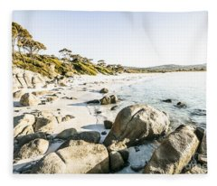 Secluded Australian Beach Paradise Fleece Blanket