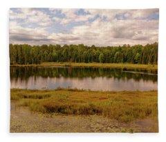 Secluded Lake Fleece Blanket