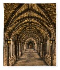 Corridor Photographs Fleece Blankets