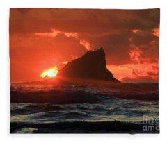 Second Beach Shark Fleece Blanket