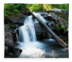 Secret Falls By Brad Scott Fleece Blanket