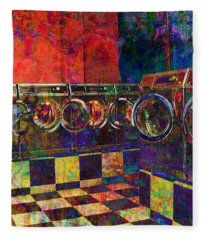 Secret Life Of Laundromats Fleece Blanket
