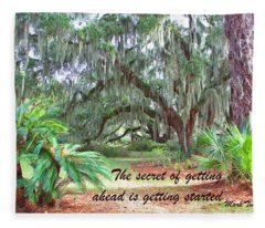 Secret Pathway Fleece Blanket