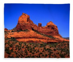 Sedona Rock Formations Fleece Blanket