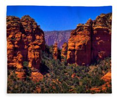 Sedona Rock Formations II Fleece Blanket