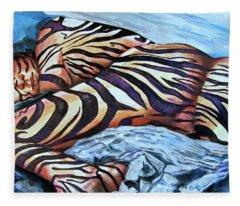 Seduction Of Stripes Fleece Blanket