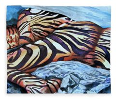 Seduction Of Stripes Fleece Blanket