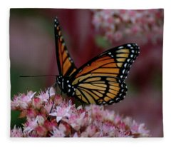 Sedum Butterfly Fleece Blanket
