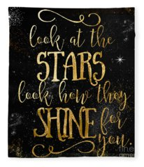 See How The Stars Shine Fleece Blanket