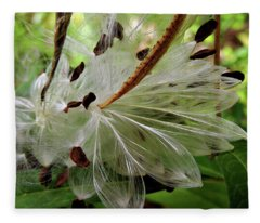 Seed Pods Fleece Blanket