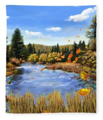 Seeley Montana Fall Fleece Blanket