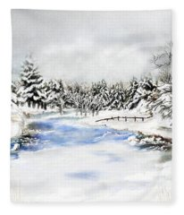 Seeley Montana Winter Fleece Blanket