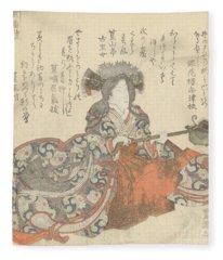 Segawa Kikunojo As Tomoe Gozen Fleece Blanket
