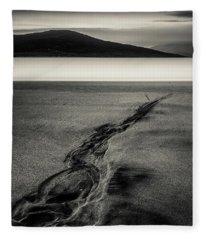 Seilebost Sand Tracks Fleece Blanket