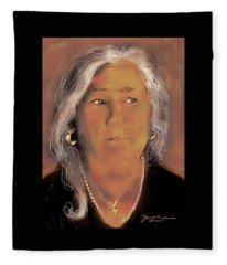 Self Portrait February Seventeen Twenty Twelve Fleece Blanket
