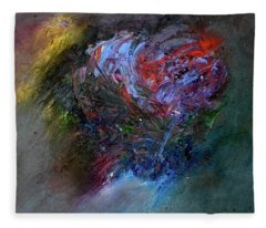 Fleece Blanket featuring the painting Self  Portrait  by Michael Lucarelli