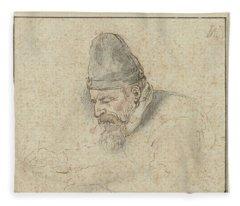 Self Portrait Of Henry Avercamp, Hendrick Avercamp, 1592-1629 Fleece Blanket