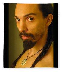 Self Portrait The Native Within Me Fleece Blanket