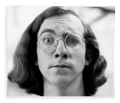 Self-portrait, With Raised Eyebrow, 1972 Fleece Blanket