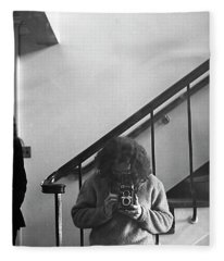 Self-portrait, With Woman, In Mirror, Cropped, 1972 Fleece Blanket