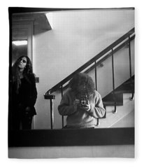 Self-portrait, With Woman, In Mirror, Full Frame, 1972 Fleece Blanket