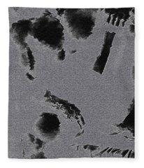 Semi-nude Original Abstract Art Cowboy Fleece Blanket