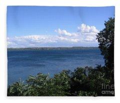 Seneca Lake Finger Lakes New York Fleece Blanket