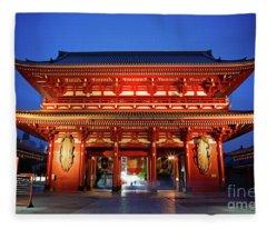 Sensoji Temple Tokyo Fleece Blanket