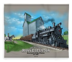 The Ross Elevator Sentinel Of The Plains Fleece Blanket