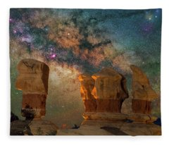 Sentinels Of The Night Fleece Blanket