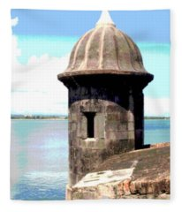 Sentry Box In El Morro Fleece Blanket
